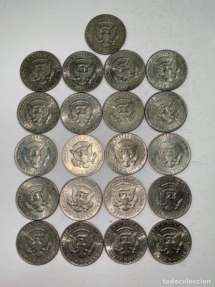 Monedas antiguas de América: LOTE DE 21 MONEDAS. EEUU. MEDIO DOLAR. HALF DOLLAR. DEL AÑO 1969 AL 1979. EBC+. VER FOTOS Y LEER. - Foto 18 - 212332870