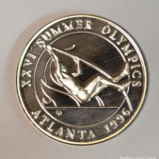 Monedas antiguas de América: TURKS & CAICOS - 20 CORONAS - SALTADOR DE PÉRTIGA - OLÍMPICOS ATLANTA - LOT. 3317. Lote 213145132