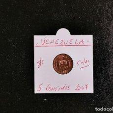 Monete antiche di America: VENEZUELA 5 CENTIMOS 2007 COBRE/ACERO S/C KM=88. Lote 213415228