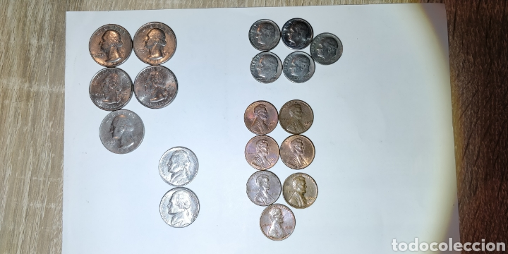 Monedas antiguas de América: Lote monedas USA - Foto 2 - 213433186