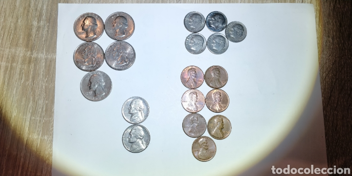 LOTE MONEDAS USA (Numismática - Extranjeras - América)