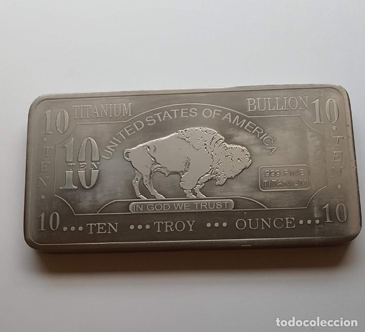 Monedas antiguas de América: Lingote 10 Onzas Titanio 99,9%. USA - Foto 3 - 213445626