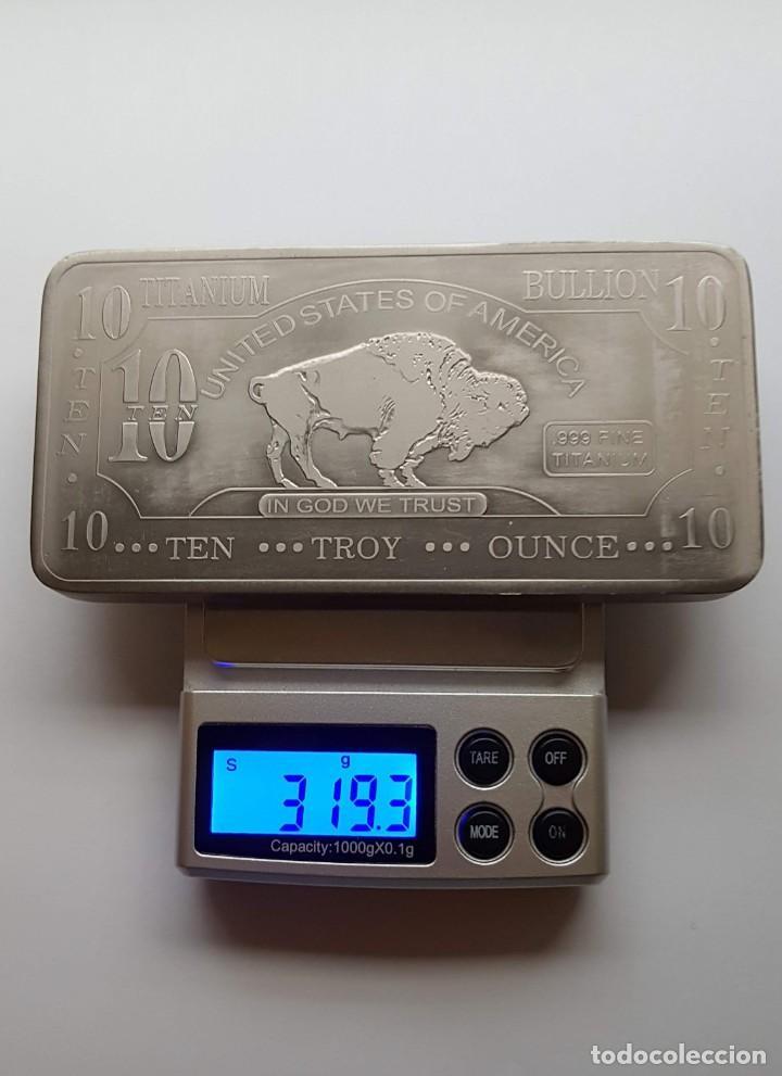 Monedas antiguas de América: Lingote 10 Onzas Titanio 99,9%. USA - Foto 6 - 213445626
