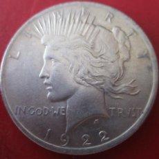 Monedas antiguas de América: ESTADOS UNIDOS. UN DOLAR DE PLATA. 1922. Lote 213650476