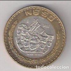 Monedas antiguas de América: MONEDA DE 50 NUEVOS PESOS DE MÉJICO DE 1995. BIMETÁLICA. INTERIOR PLATA. ARO COBRE. EBC (ME1237). Lote 214108376
