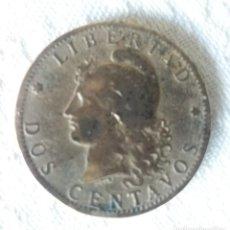 Monedas antiguas de América: MONEDAS DOS CENTAVOS. 2 CENTAVOS. REPÚBLICA DE ARGENTINA. 1891. LIBERTAD.. Lote 214343765