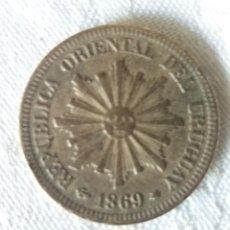 Monedas antiguas de América: MONEDA 2, DOS CENTÉSIMOS. REPÚBLICA ORIENTAL DEL URUGUAY. 1869.. Lote 214344248