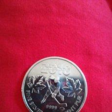 Monedas antiguas de América: 5 DOLLARS CANADÁ 2010 1 OZ PLATA 999 31 GR JUEGOS OLIMPICOS. Lote 214374427