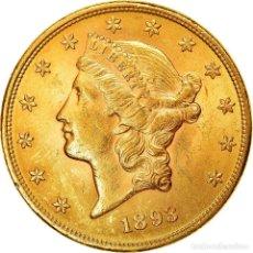 Monedas antiguas de América: MONEDA, ESTADOS UNIDOS, LIBERTY HEAD, $20, DOUBLE EAGLE, 1893, U.S. MINT. Lote 214382657