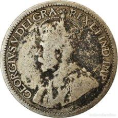 Monedas antiguas de América: MONEDA, CANADÁ, GEORGE V, 10 CENTS, 1914, ROYAL CANADIAN MINT, OTTAWA, BC+. Lote 214383358