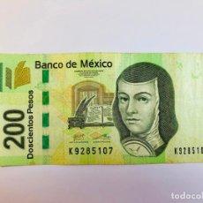 Monedas antiguas de América: BILLETE DE 200 PESOS DE MÉXICO. Lote 215008103