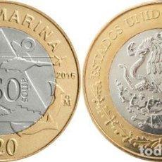 Monete antiche di America: MEXICO 20 PESOS 2016 50º ANIV PLAN MARINA. Lote 215292112