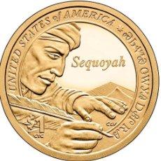 Monedas antiguas de América: ESTADOS UNIDOS / USA 1 DOLAR 2017 AMERICAN NATIVE SEQUOYAH P. Lote 257389710