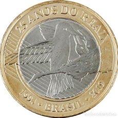 Monete antiche di America: BRASIL 1 REAL 2019 25º ANIVERSARIO DEL REAL. Lote 215298735
