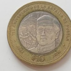 Monedas antiguas de América: MONEDA MÉXICO. 150° ANIVERSARIO DE LA BATALLA DE PUEBLA. $ 10 PESOS. AÑO 2012. Lote 215598218