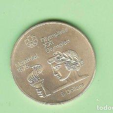 Monedas antiguas de América: PLATA-CANADA 5 DOLLARS 1974. OLIMPIADA MONTREAL. ATLETA 24,3 GRAMOS DE LEY 0,925. Lote 216367326