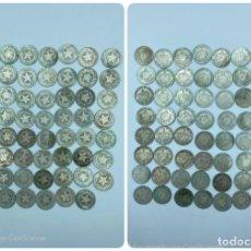 Monedas antiguas de América: CUBA. LOTE DE 63 MONEDAS DE 20 CENTAVOS. PLATA. AÑOS 1915, 1916, 1920, 1948 Y 1949. VER FOTOS. Lote 216548791
