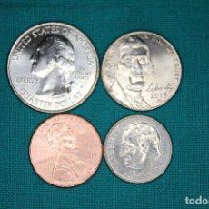 Monedas antiguas de América: ESTADOS UNIDOS 4 MONEDAS SIN CIRCULAR. Lote 216712082