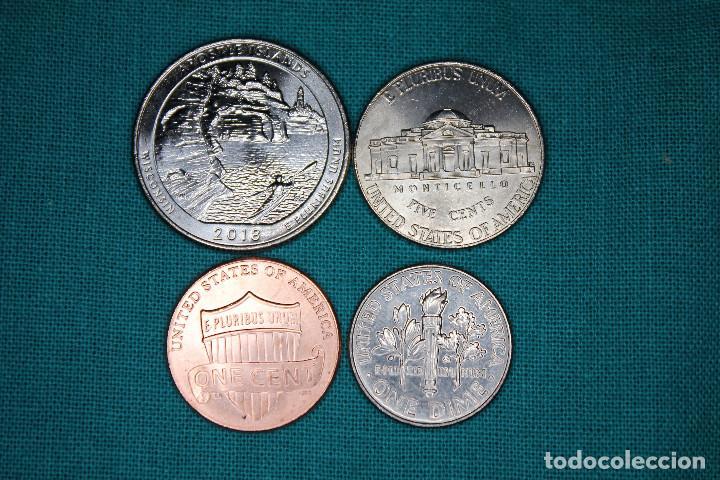 Monedas antiguas de América: Estados Unidos 4 monedas sin circular - Foto 2 - 216712082