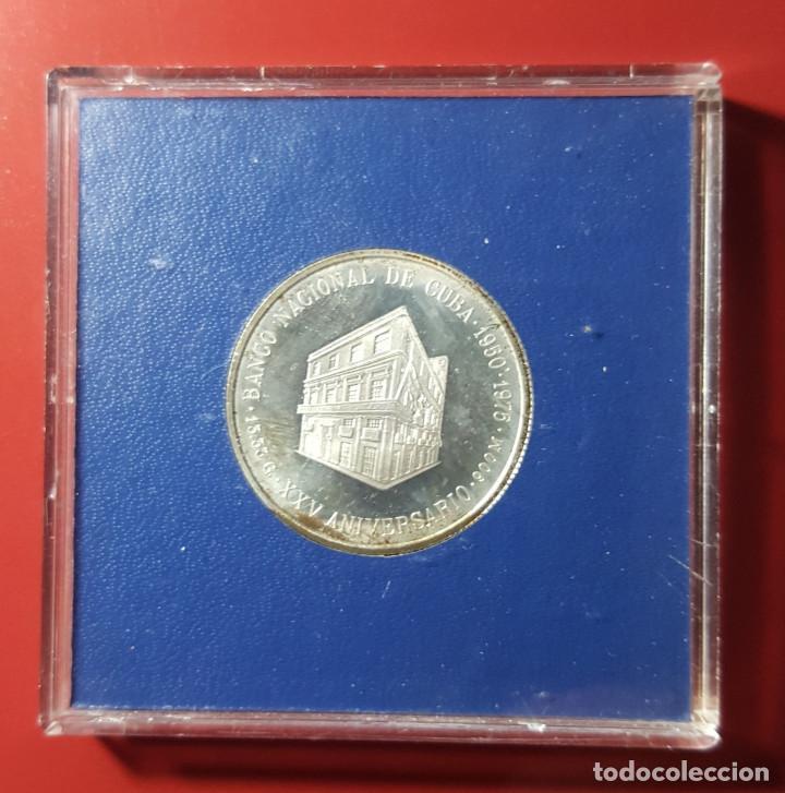 Monedas antiguas de América: 5 PESOS CUBA 1975 PLATA UNC - Foto 2 - 216814015