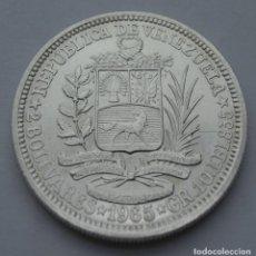 Monedas antiguas de América: VENEZUELA, 2 BOLIVARES 1965 (PLATA). Lote 216836498