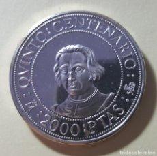 Monedas antiguas de América: 2000 PESETAS V CENTENARIO C. COLON 1989 PLATA. Lote 217142306