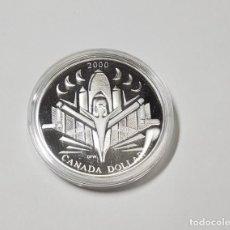 Monedas antiguas de América: 1 DOLAR DE PLATA DE CANADA DE EL AÑO 2000 PROOF. Lote 217431453