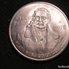Monedas antiguas de América: MEXICO 1978 CIEN PESOS DE PLATA. Lote 217551521