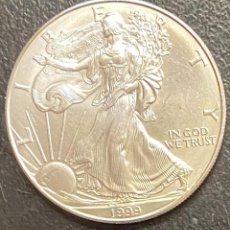 Monedas antiguas de América: MONEDA DE 1 DÓLAR, 1 ONZA DE PLATA AÑO 1999. Lote 218073381