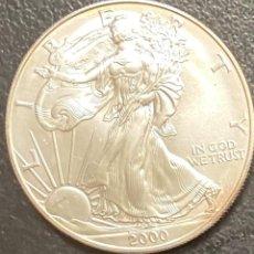 Monedas antiguas de América: MONEDA DE 1 DÓLAR, 1 ONZA DE PLATA AÑO 2000. Lote 218073530