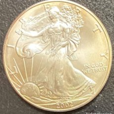 Monedas antiguas de América: MONEDA DE 1 DÓLAR, 1 ONZA DE PLATA AÑO 2002. Lote 218073657