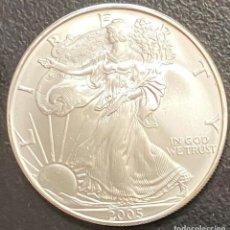 Monedas antiguas de América: MONEDA DE 1 DÓLAR, 1 ONZA DE PLATA AÑO 2005. Lote 218074431