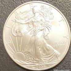 Monedas antiguas de América: MONEDA DE 1 DÓLAR, 1 ONZA DE PLATA AÑO 2008. Lote 218074800