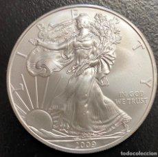 Monedas antiguas de América: MONEDA DE 1 DÓLAR, 1 ONZA DE PLATA AÑO 2009. Lote 218076665