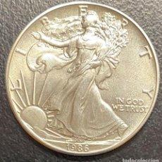 Monedas antiguas de América: MONEDA DE 1 DÓLAR, 1 ONZA DE PLATA AÑO 1986. Lote 218064922