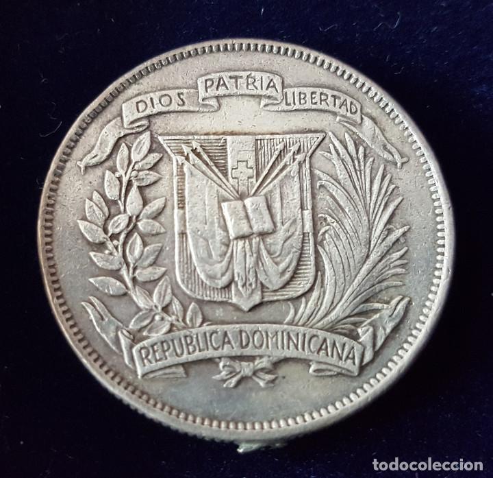 Monedas antiguas de América: MEDIO PESO R.DOMINICANA 1961 PLATA - Foto 2 - 218111816