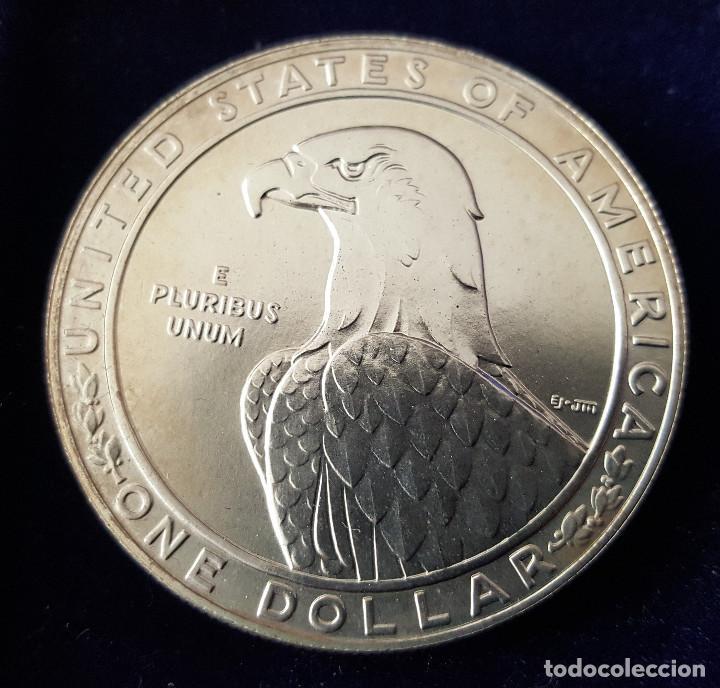 1 DÓLAR USA XXIII OLIMPIADAS L.A. 1983 P PLATA (Numismática - Extranjeras - América)