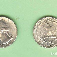 Monedas antiguas de América: PLATA-USA . QUARTER DOLLAR 1962. 6,25 GRAMOS DE LEY 0,900. KM#164. Lote 248827665