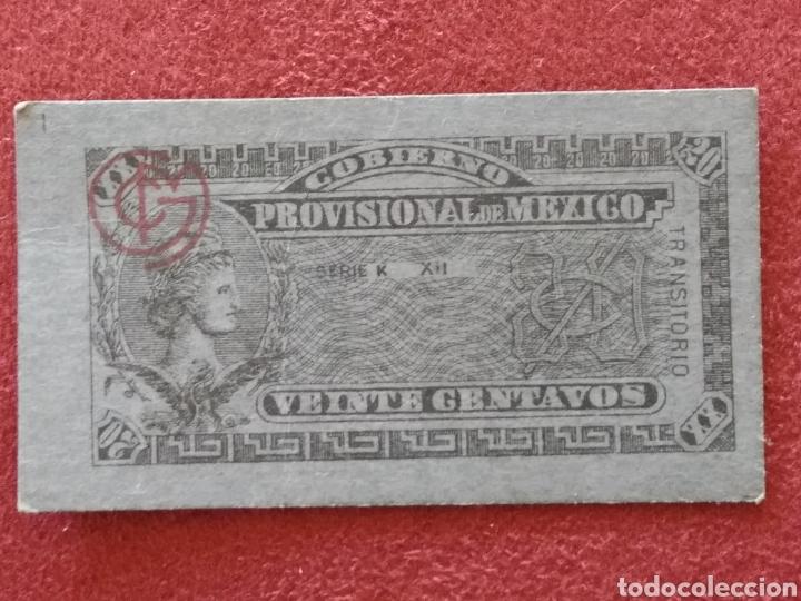 GOBIERNO PROVISIONAL MEXICO 5 BILLETES VEINTE CENTAVOS (Numismática - Extranjeras - América)