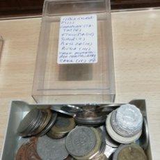 Monedas antiguas de América: MONEDAS 77 DE PAÍSES VARIOS ( VER LISTADO) LIBIA DE GHADAFI, CARIBIAN STATES, ETC. Lote 218338343