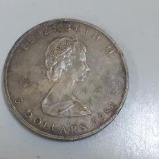 Monedas antiguas de América: MONEDA ELIZABETH II 5 DOLLARS 1989 (2761). Lote 218382872