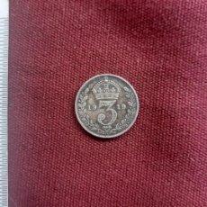 Monete antiche di America: REINO UNIDO. 3 PENCE DE PLATA DE 1919. Lote 218384927