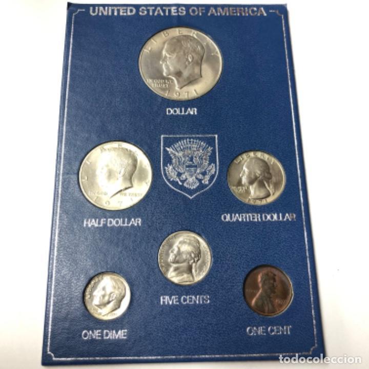SET DE ESTADOS UNIDOS 1971-1972 MONEDAS SIN CIRCULAR (Numismática - Extranjeras - América)