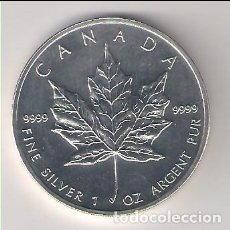 Monedas antiguas de América: MONEDA DE 5 DÓLARES (HOJA) DE CANADÁ DE 2004. PLATA. SIN CIRCULAR. (ME226). Lote 218811972