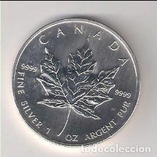 Monedas antiguas de América: MONEDA DE 5 DÓLARES (HOJA) DE CANADÁ DE 2008. PLATA. SIN CIRCULAR. (ME928). Lote 218814951