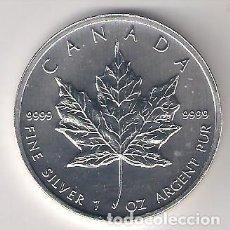 Monedas antiguas de América: MONEDA DE 5 DÓLARES (HOJA) DE CANADÁ DE 2011. PLATA. SIN CIRCULAR. (ME276). Lote 218816157