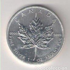 Monedas antiguas de América: MONEDA DE 5 DÓLARES (HOJA) DE CANADÁ DE 2012. PLATA. SIN CIRCULAR. (ME297). Lote 218817435