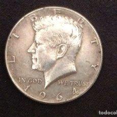 Monedas antiguas de América: MONEDA HALF DOLLAR MEDIO DÓLAR PLATA 1964 USA. Lote 218979765