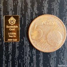 Monedas antiguas de América: LINGOTE ORO PURO 1/100 ONZA. SCOTTSDALE. USA. Lote 219021158