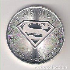 Monedas antiguas de América: MONEDA 5 DÓLARES (ONZA SUPERMAN) DE CANADÁ DE 2016. PLATA. PROOF. Lote 219078490